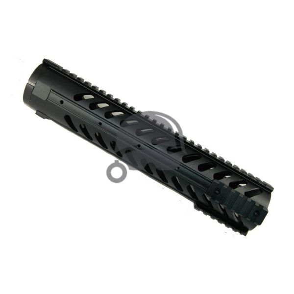 12 inch Free Float Rifle Length Rail System with Monolithic Top Rail and Removable Sides and Bottom Rails