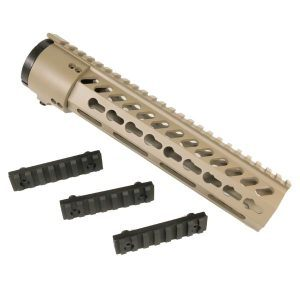 AR-15 Gen 1 KeyMod Spector Length 10 inch Free Float System Slim Profile in FDE