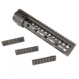 "10"" Free float keymod handguard for ar15 with 3 picattiny rails"