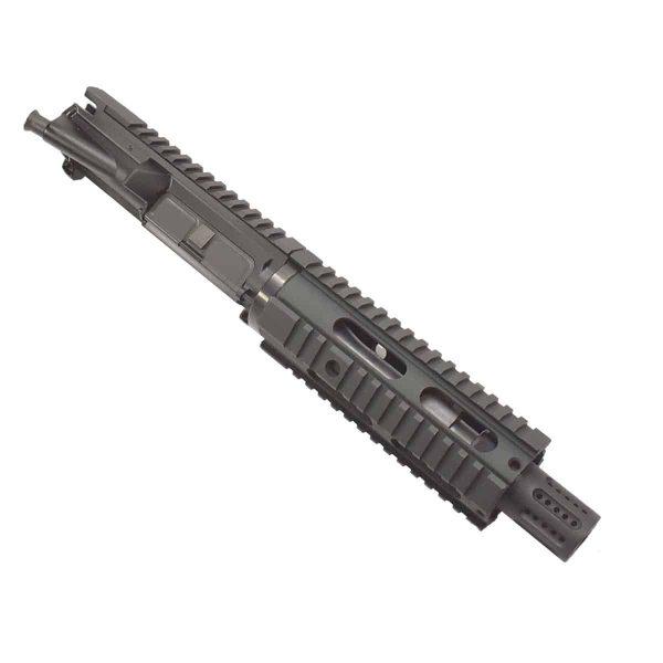 AR-15 Pistol 5.56 Upper with Carbine Quad Rail & Muzzle Ports