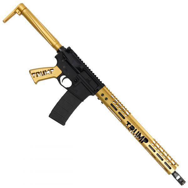 Anodized Gold Trump MAGA AR-15 Rifle