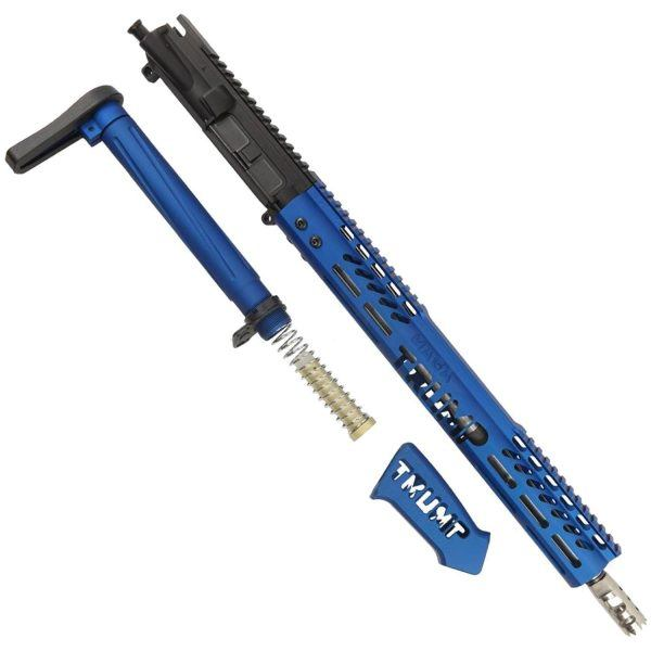 AR-15 5.56 Rifle Upper Receiver Set 'Trump MAGA' Limited Edition (Anodized Blue)