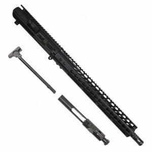 AR LR308 Complete Upper Receiver with 16 inch Barrel and 15 inch Slim Profile KeyMod or M-LOK Handguard