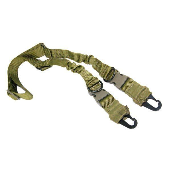 2 or 1 Point Sling with Heavy Duty Hooks in OD Green