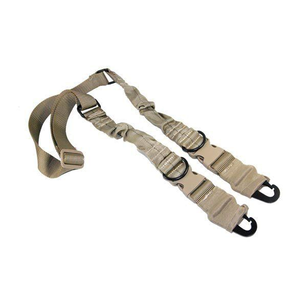 2 or 1 Point Sling with Heavy Duty Hooks in Tan