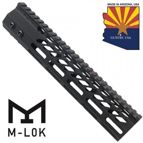 AR-15 M-LOK Octagonal 10 inch Free Float Spector Handguard In Black