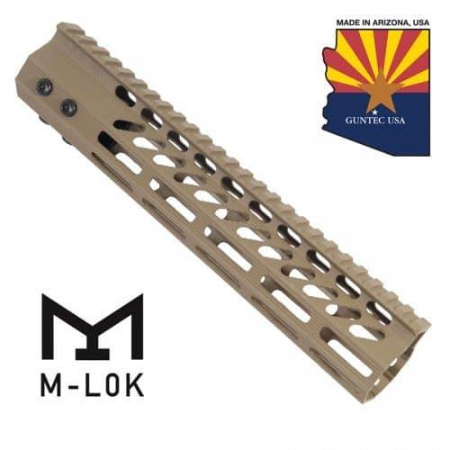 AR-15 M-LOK Octagonal 10 inch Free Float Spector Handguard – FDE
