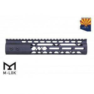 "AR-15 10"" M-LOK Diamond Series Free Float Handguard In Black"