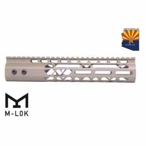 "AR-15 10"" M-LOK Diamond Series Free Float Handguard In FDE"