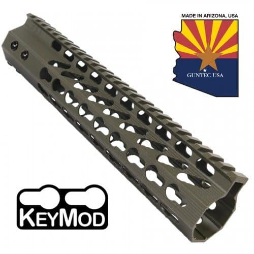 "AR-15 10"" Octagonal Free Float Keymod Handguard In OD Green"