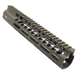 "AR-15 M-Lok 10"" Free Float Ultra Light Rail System Iin OD Green"