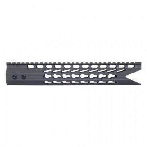 AR-15 KeyMod 11.5 Octagonal Shark Cut Free Float Handguard In OD Green