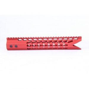 AR-15 KeyMod 11.5 Octagonal Shark Cut Free Float Handguard In Red