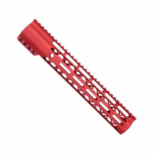 "12"" Length Air-Lok Compression M-LOK Free Float Handguard in Red"