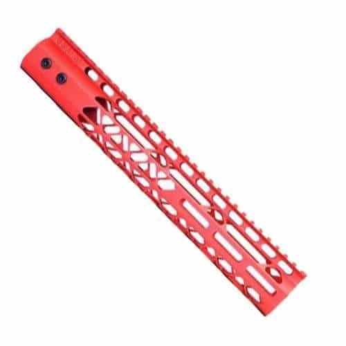 12 inch diamond series red ar15 handguard