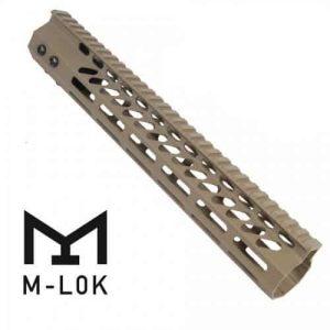 """AR15 Octagonal M-LOK 12"""" Free Float Handguard In FDE"""