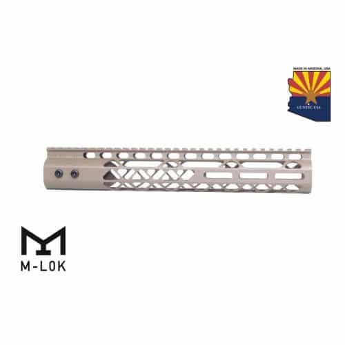 "AR15 Diamond Series M-LOK 12"" Free Float handguard IN FDE"