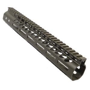 "AR-15 M-LOK 12"" Free Float Light Weight Handguard In OD Green"