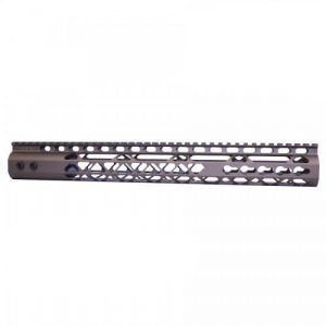 AR15 15 Inch KeyMod Diamond Series Handguard Burnt Bronze