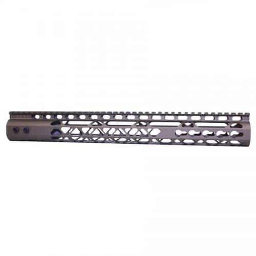 AR15 15 Inch KeyMod Diamond Series Handguard Burnt Bronze