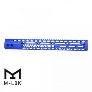 "AR15 Diamond Series 15"" M-LOK Free Float Handguard In Blue"