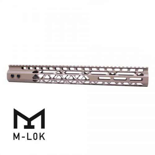 "AR15 Diamond Series 15"" M-LOK Free Float Handguard In FDE"