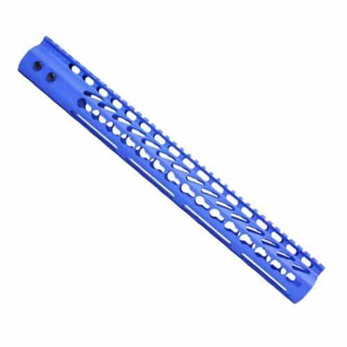 15 inch cerakote NRA blue keymod handguard for ar15