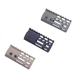 "4"" Ultra Slimline Octagonal 5 Sided M-LOK Free Floating Handguard Rail"