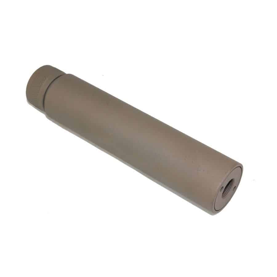 5.5 inch Slip Over Fake suppressor Cerakote Dark Earth