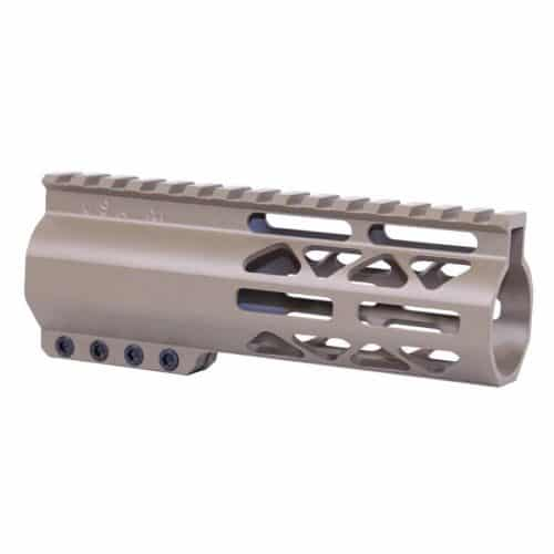 "6"" Length Air-Lok Compression M-LOK Free Float Handguard in FDE"