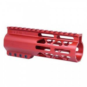 "6"" Length Air-Lok Compression M-LOK Free Float Handguard in RED"