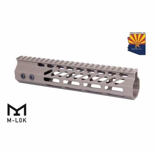 """AR-15 Octagonal M-LOK Free Float 9"""" Handguard In FDE"""