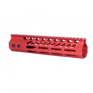 "AR-15 Octagonal M-LOK Free Float 9"" Handguard In Red"