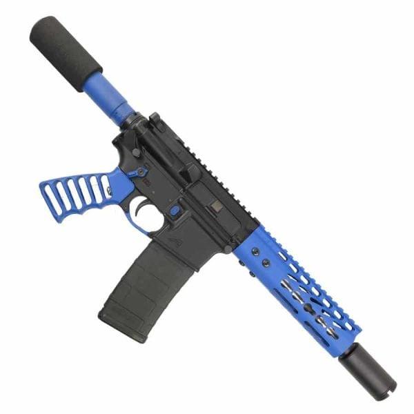 AR-15 Pistol Upper 5.56 Blue Pistol Upper Set on lower