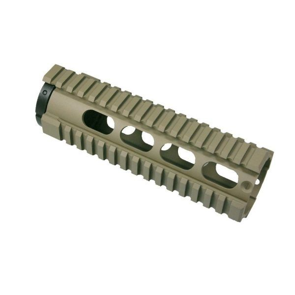 AR-15 Free Float Rail Carbine Systems with Continuous Top Rail in Cerakote Magpul Dark Earth