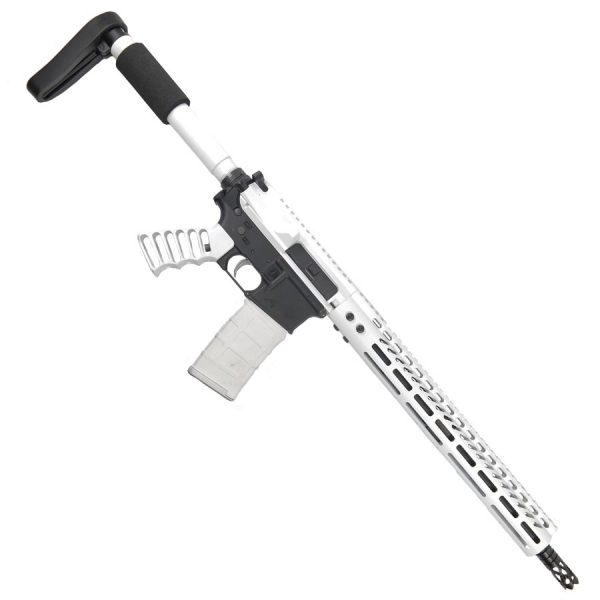 AR15 6.5 Grendel Complete Upper In Arctic White With M-LOK