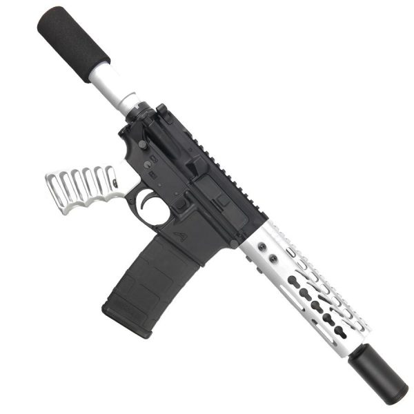 AR-15 Pistol Upper 5.56 Arctic White Pistol Upper Set