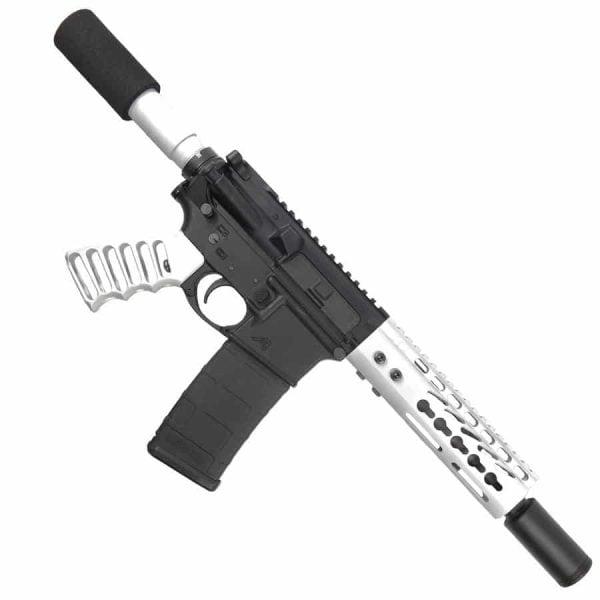 AR-15 Pistol Upper 5.56 Arctic White Pistol Upper Set