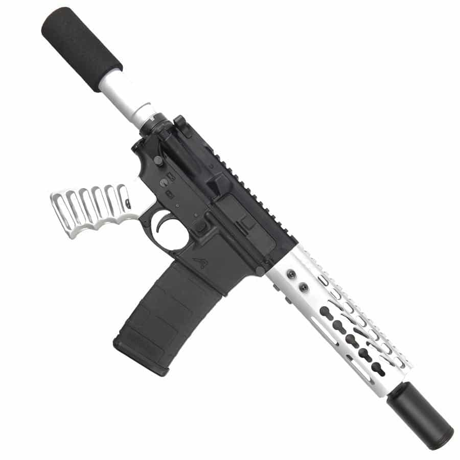 ar 15 pistol upper 5 56 arctic white pistol upper set
