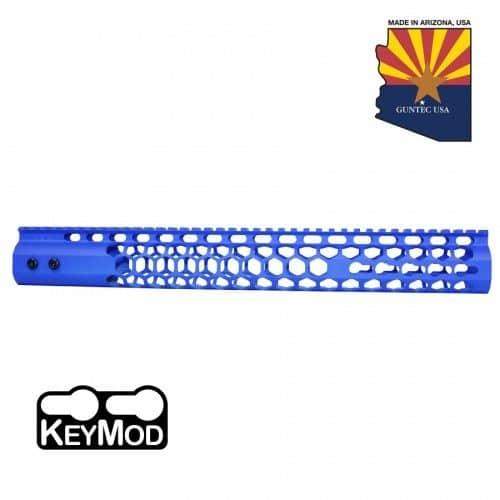 "AR15 Honeycomb 15"" Keymod Free Floating Handguard Cerakote Blue"