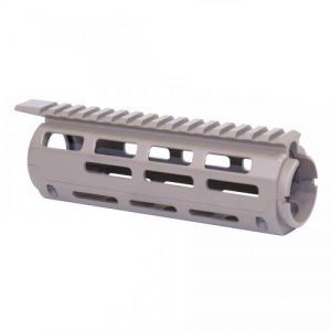 AR-15 2 Piece Drop in Aluminum M-LOK Carbine Handguard Replacement in OD Green in Flat Dark Earth FDE