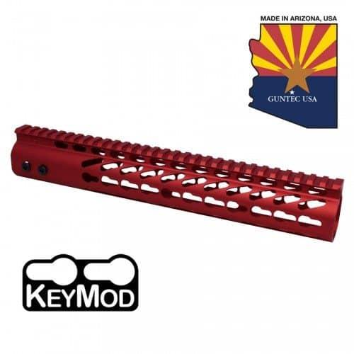 AR-15 KeyMod Free Float 12″ Handguard in Red
