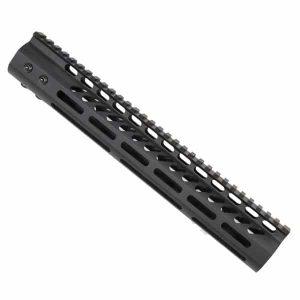"AR-15 M-LOK 12"" Free Float Light Weight Handguard In Black"