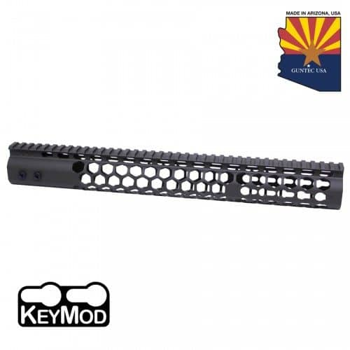 "AR15 Honeycomb 15"" Keymod Free Floating Handguard In Black"