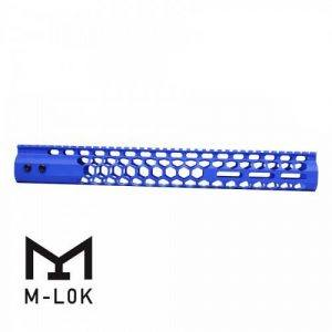 "AR15 Honeycomb Series M-LOK 15"" Free Float Handguard Cerakote Blue"