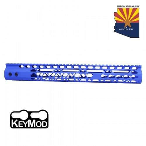AR15 15 Inch KeyMod Diamond Series Handguard In Blue