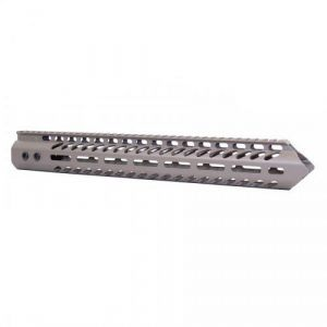 LR 308 15 inch Free Float Warhead Slim Profile M-LOK Handguard in Flat Dark Earth