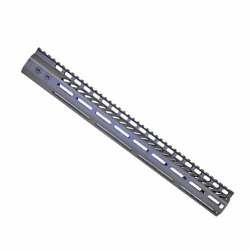LR 308 16.5 inch Free Float Ultra Light Slim Profile M-Lok Handguard in OD Green