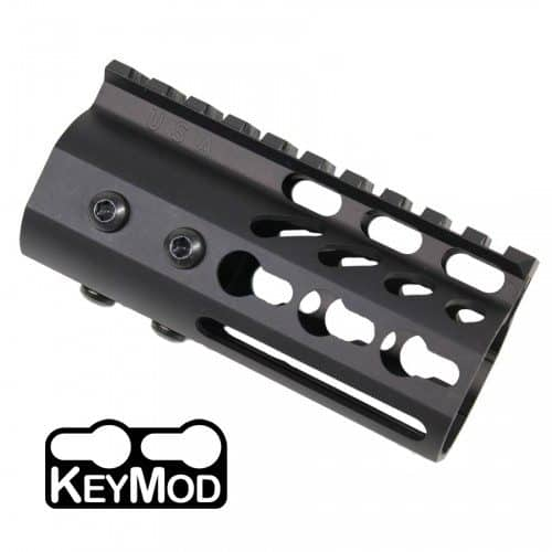 "AR15 4"" Ultralight KeyMod Free Float Handguard"