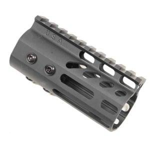 "AR-15 M-Lok 4"" Pistol Free Float Ultra Light USA Made Rail System"